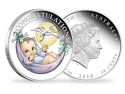 Newborn Baby 2018 1/2oz Pure Silver Proof Coin