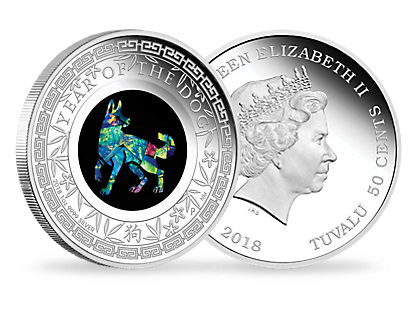Australian Opal Lunar Series – 2018 Year of the Dog 1oz Silver Proof Coin