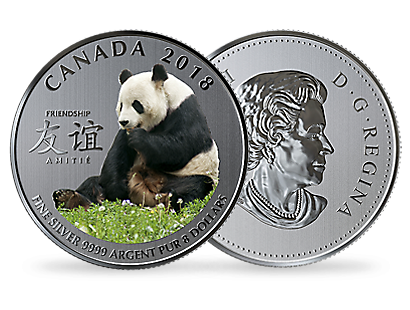 The Peaceful Panda, A Gift of Friendship 2018 $8 Fine Silver Coin