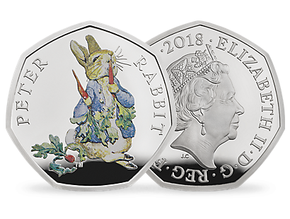 Peter Rabbit & Friends - Peter Rabbit 2018 Silver Proof 50p Coin