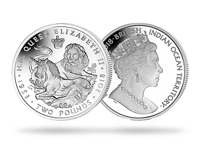 Lion & The Unicorn 2018 Cupro-Nickel Uncirculated £2 Coin