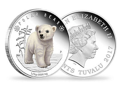 2017 Polar Babies - Polar Bear 1/2 oz Silver Proof Coin
