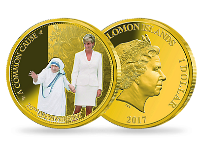 Princess Diana 20th Anniversary 2017 Gold-Plated Proof Coin