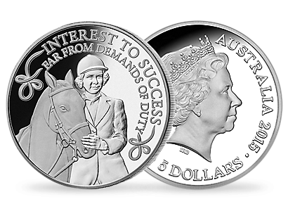 For the Love of Horses $5 Fine Silver Proof Coin