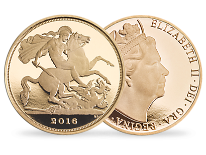 The Quarter Sovereign 2016 Gold Proof Coin