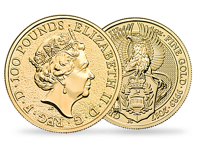 The Queen's Beasts 2017 The Griffin One Ounce Fine Gold Bullion Coin