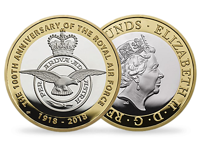 RAF Centenary Badge 2018 £2 Silver Proof Coin