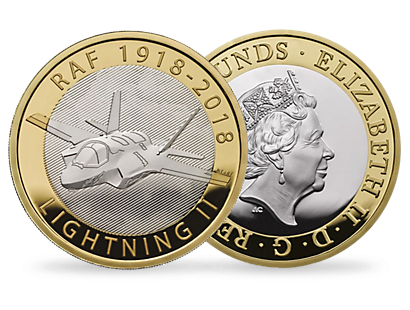 PRE-ORDER NOW: RAF Lightning 2018 £2 Brilliant Uncirculated Coin