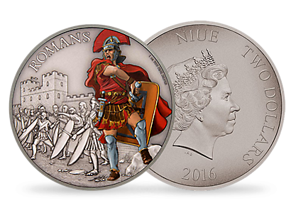 Warriors of History – Romans 1 oz Silver Coin