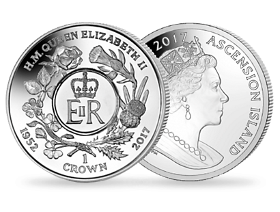 Queen Elizabeth II Sapphire Jubilee: Royal Cypher - 2017 Uncirculated Cupro Nickel Coin