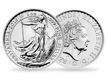 The Britannia 2016 1 oz Silver Brilliant Uncirculated Coin