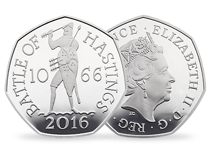 Battle of Hastings 2016 UK 50p Silver Proof Coin