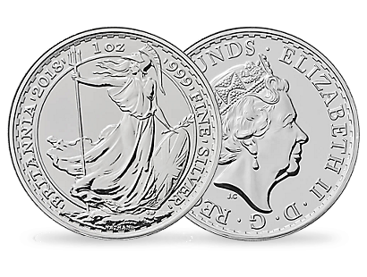 The Royal Mint Britannia 2018 1oz Silver Brilliant Uncirculated Coin