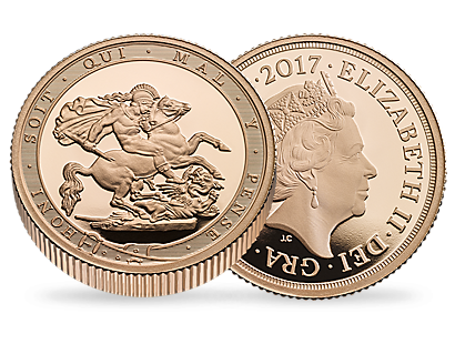 The Royal Mint Sovereign 2017 200th Anniversary Gold Proof Piedfort Coin