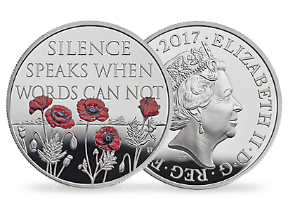 The Royal Mint Remembrance Day 2017 £5 Coins
