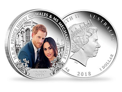 The Royal Wedding 2018 $1 Silver Proof Coin