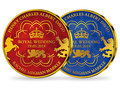 Royal Wedding - Prince Harry & Meghan Markle Gold Plated Commemoratives