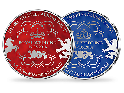 Royal Wedding - Prince Harry & Meghan Markle Silver Plated Commemoratives