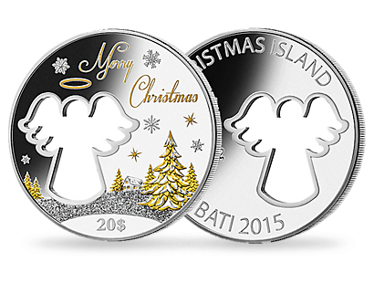 Silver Angel Christmas coin