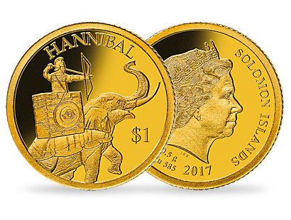 Hannibal 2017 $1 Gold Proof Coin