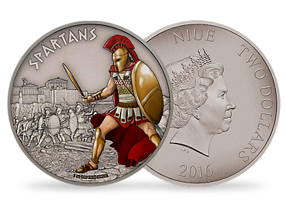 Warriors of History – Spartans 1 oz Silver Coin