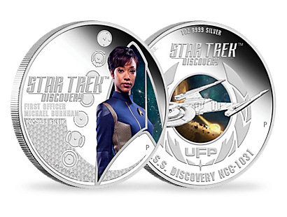 Star Trek: Discovery First Officer Michael Burnham & U.S.S. Discovery NCC-1301 2018 1oz Silver Proof Two-Coin Set