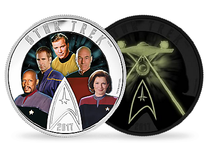 Star Trek: Five Captains 2017 $30 Fine Silver Coin