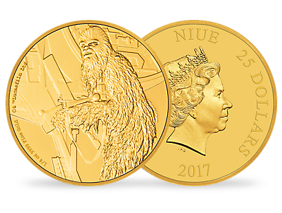 Star Wars Classic – Chewbacca ¼ oz Gold Coin