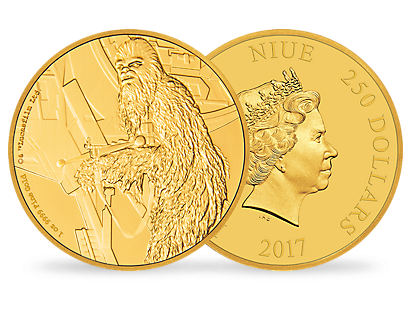 Star Wars Classic – Chewbacca 1 oz Gold Coin