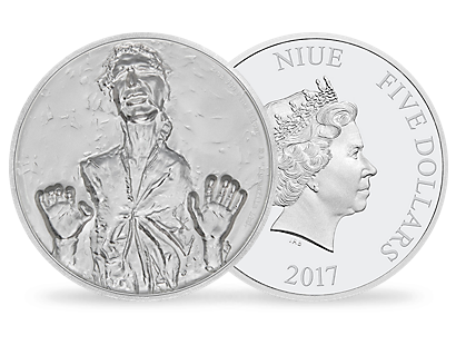 Han Solo Ultra High Relief 2oz Silver Coin