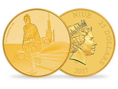 Star Wars Classic – Luke Skywalker 1/4 oz Gold Coin