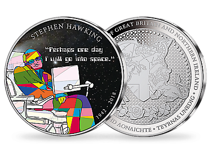 The Genius of British Scientists – Stephen Hawking Silver Plated Tribute Commemorative