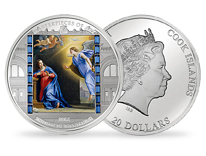 The Announcement - Masterpieces of Art 2014 Silver Proof Coin