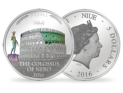 Holo Vision - The Colossus of Nero Silver Coin
