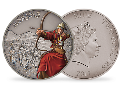 Warriors of History – Mongols 1 oz Silver Coin