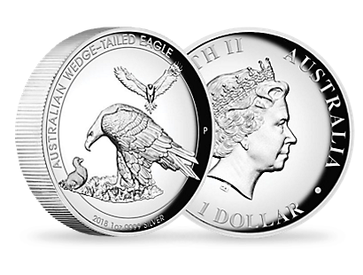 Australian Wedge-tailed Eagle 2018 1oz Silver Proof High Relief Coin