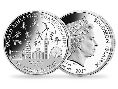 World Athletics Championships 2017 1oz Silver Coin