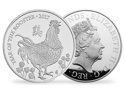 Lunar Year of the Rooster 2017 UK Kilo Silver Proof Coin