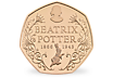 150th Anniversary of Beatrix Potter 50p Gold Proof Coin