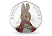 Peter Rabbit & Friends - Flopsy Bunny 2018 Silver Proof 50p Coin
