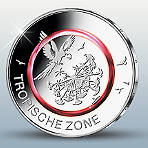 Climate Zones of the Earth -  Tropical Climate Zone  Polymer Ring Coin