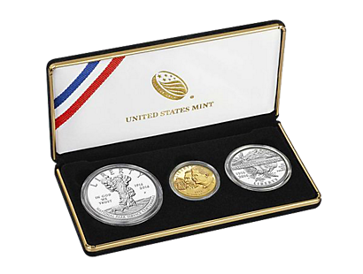 Set of 3 coins - Centenary of the National Park Service