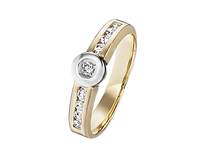 Gold 585 Band-Ring mit Brillanten