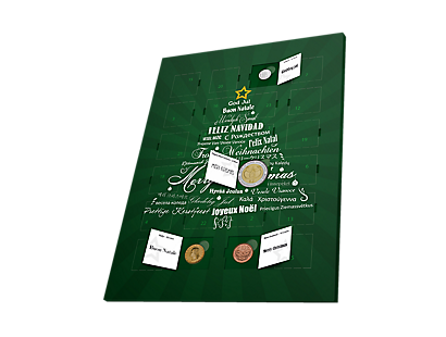 Advent Coin Calendar Featuring 24 Real Currencies