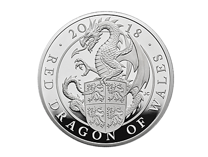 The Queen's Beasts - The Red Dragon of Wales 2018 5oz Silver Proof Coin