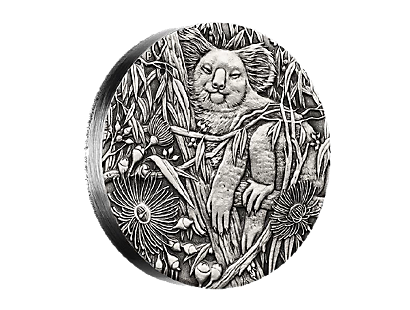 2017 Australian Koala 2oz Silver High Relief Antiqued Coin