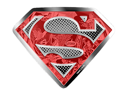 DC Comics Originals - Superman's Shield 2017 10oz $100 Silver Coin