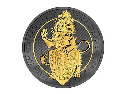 Golden Enigma - 2017 Queen's Beast £5 2oz Piedfort Coin
