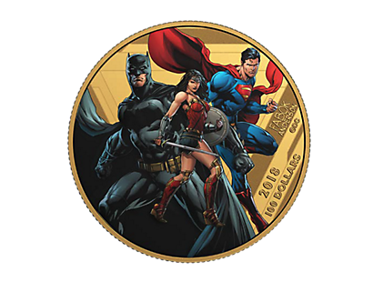 The Justice League - United We Stand 2018 $100 14-Karat Gold Coin