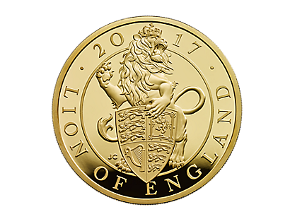 The Lion of England 2017 UK 1oz Gold Proof Coin